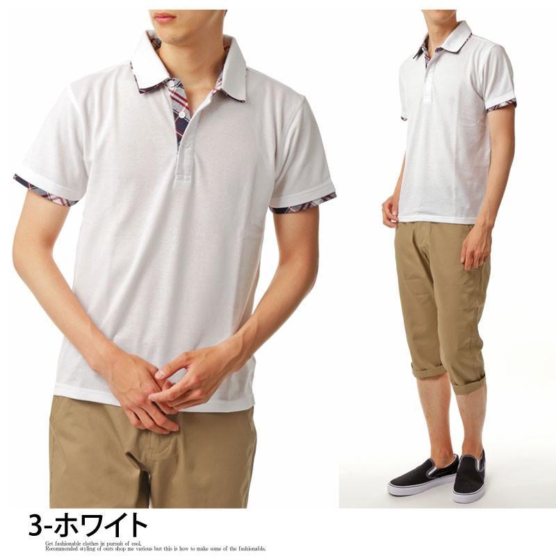 ポロシャツ メンズ 半袖 無地 ポロシャツ 鹿の子 チェック ビズポロ ビジネス Tシャツ 衿 襟 トップス メンズファッション|topism|15