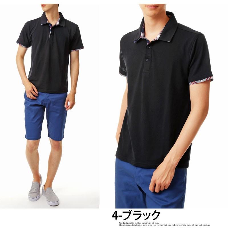 ポロシャツ メンズ 半袖 無地 ポロシャツ 鹿の子 チェック ビズポロ ビジネス Tシャツ 衿 襟 トップス メンズファッション|topism|16