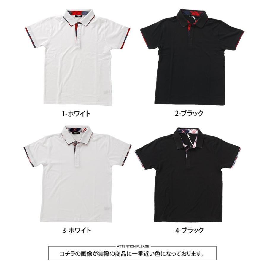 ポロシャツ メンズ 半袖 無地 ポロシャツ 鹿の子 チェック ビズポロ ビジネス Tシャツ 衿 襟 トップス メンズファッション|topism|17