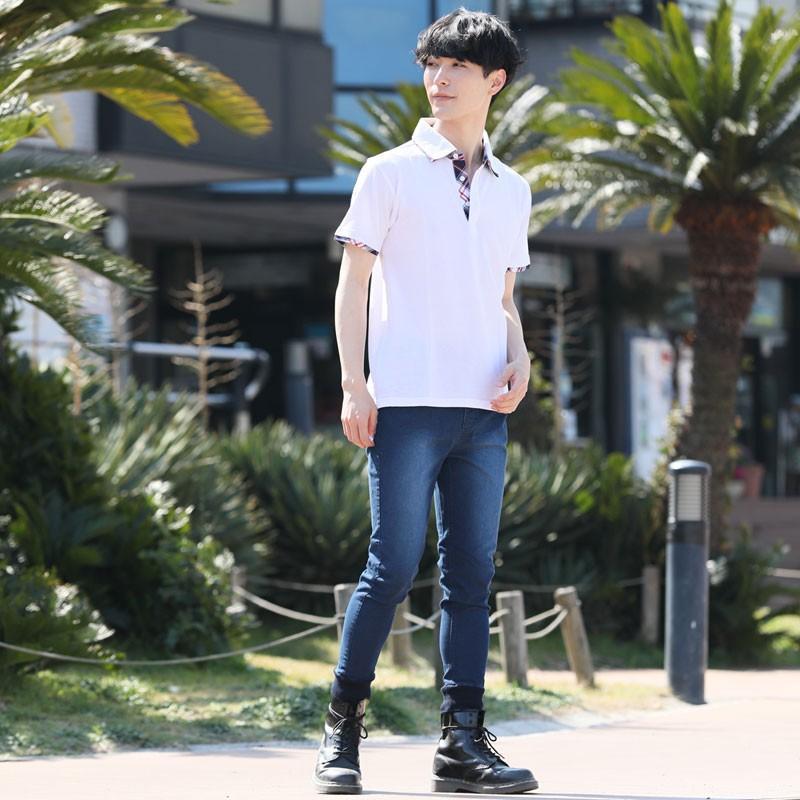 ポロシャツ メンズ 半袖 無地 ポロシャツ 鹿の子 チェック ビズポロ ビジネス Tシャツ 衿 襟 トップス メンズファッション|topism|08