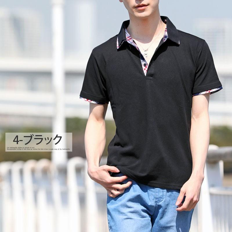 ポロシャツ メンズ 半袖 無地 ポロシャツ 鹿の子 チェック ビズポロ ビジネス Tシャツ 衿 襟 トップス メンズファッション|topism|09