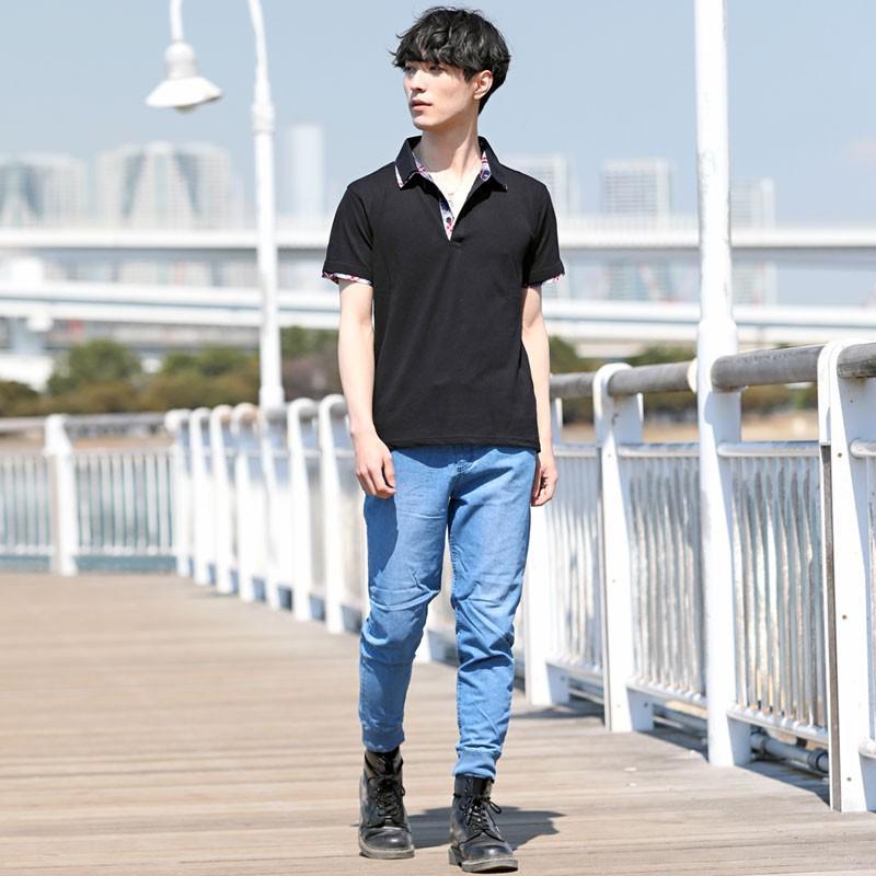 ポロシャツ メンズ 半袖 無地 ポロシャツ 鹿の子 チェック ビズポロ ビジネス Tシャツ 衿 襟 トップス メンズファッション|topism|10