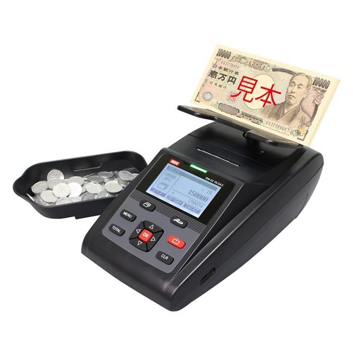 紙幣計数機 硬貨計数機 ダイト オルガII DW-02 プリンター搭載マネーカウンター