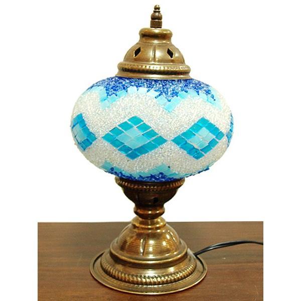 トルコ製 モザイクテーブルランプ LS-080