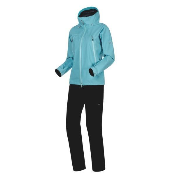 マムート Climate Rain-Suit AF Women ウォーター/ブラック ユーロMサイズ(日本L)1010-26561-50218