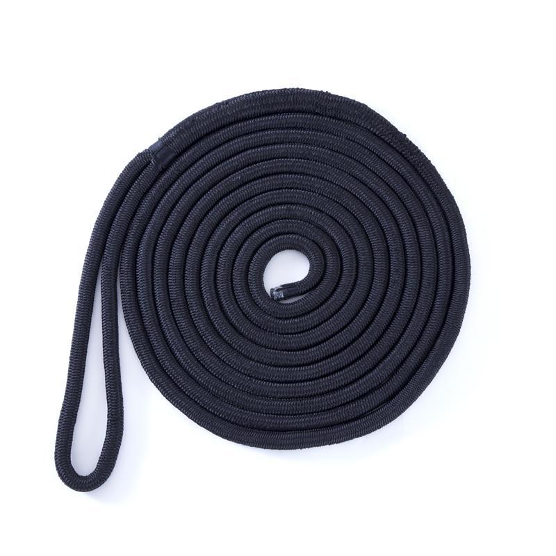 係留ロープ 24mmx10m アイ加工 ブラック