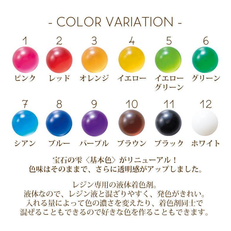 【リニューアル】 パジコ レジン専用着色剤 宝石の雫 10ml tora-shop 02