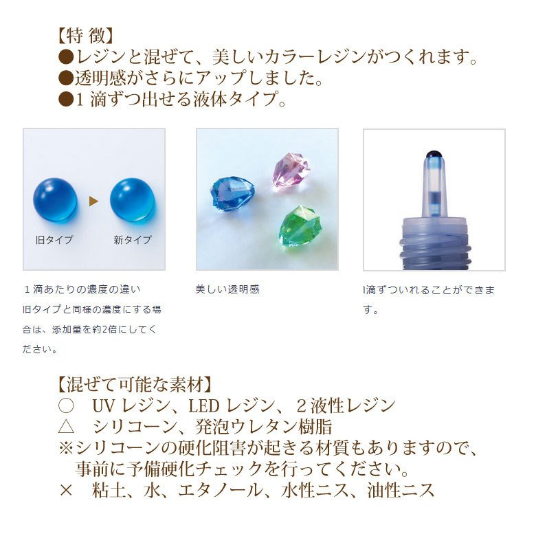 【リニューアル】 パジコ レジン専用着色剤 宝石の雫 10ml tora-shop 03