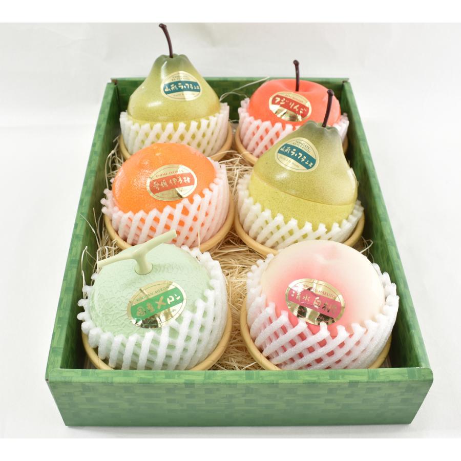 フルーツアラモード 6個入 ゼリー ギフト りんご ラフランス もも メロン いよかん  かわいい  内祝い 京寿楽庵 お取り寄せ お中元 父の日 toraya-sweets 02