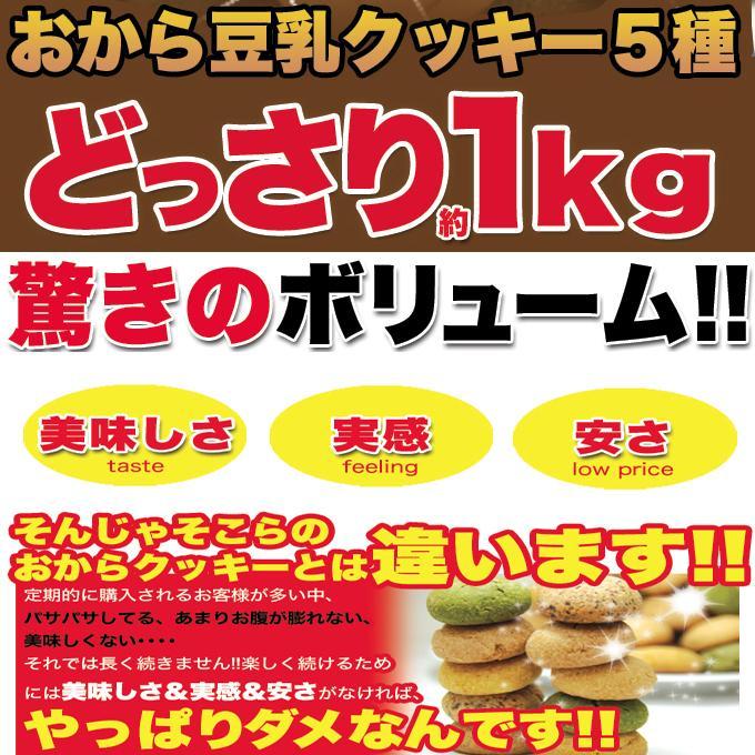 訳あり おからクッキー 送料無料 ヘルシー&DIET応援 豆乳 ソフトクッキー 1kg|toretate1ban|02