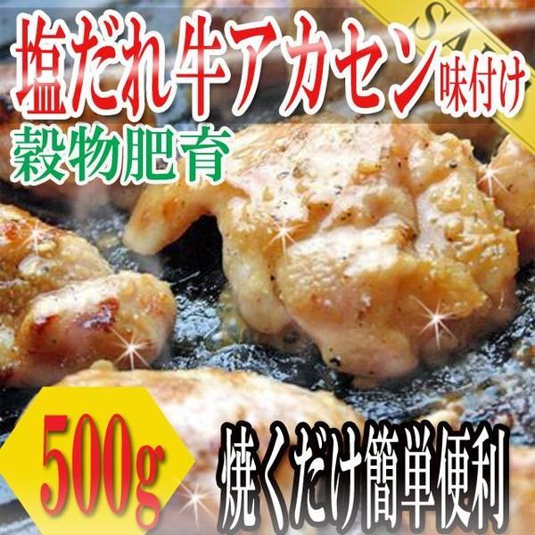 塩だれ牛ホルモン 500g アカセン 味付け ホルモン ほるもん 焼き肉 バーベキュー 牛肉 お肉 肉 冷凍A プレミアム|toretate1ban