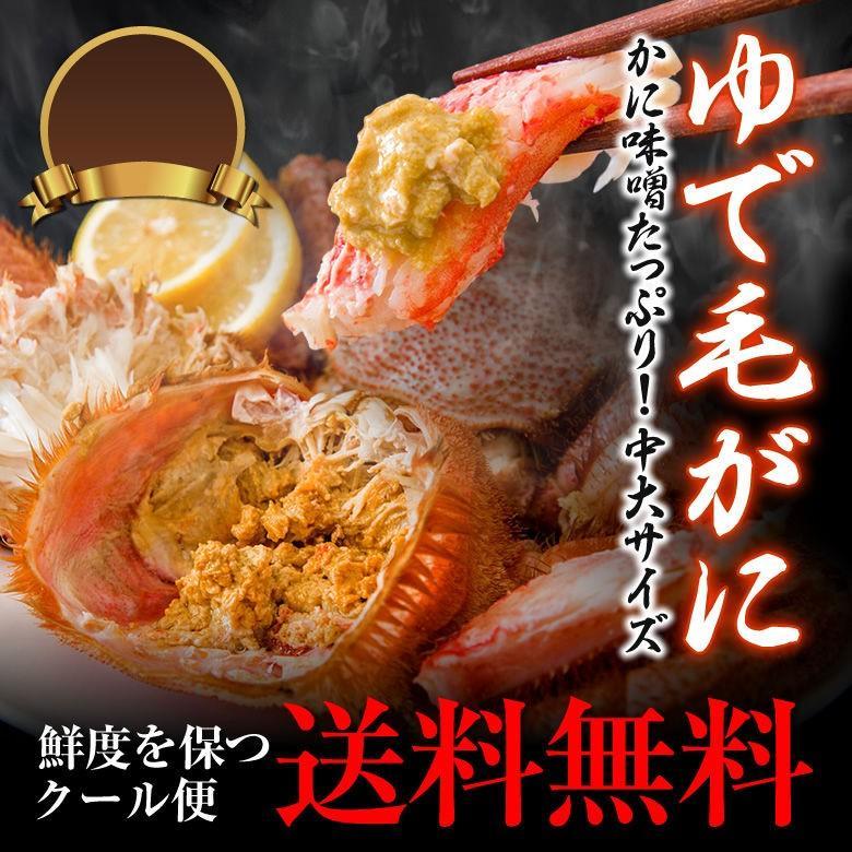 急冷毛蟹 中大サイズ 約1キロ ( 2-3尾 ) 国産 蟹 カニ かに 毛ガニ 送料無料 プレミアム toretate1ban