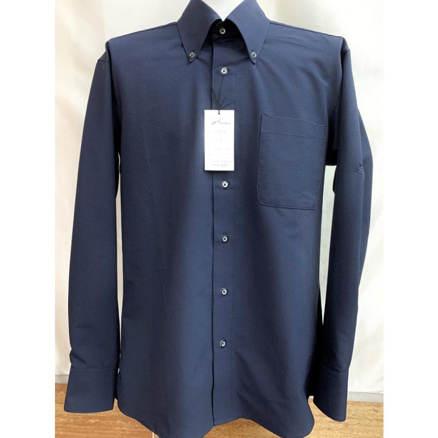 ボタンダウンレギュラーシャツ 紺 ライトグレー TT6006 東京トリキン 燕尾服 社交ダンス|torikin21