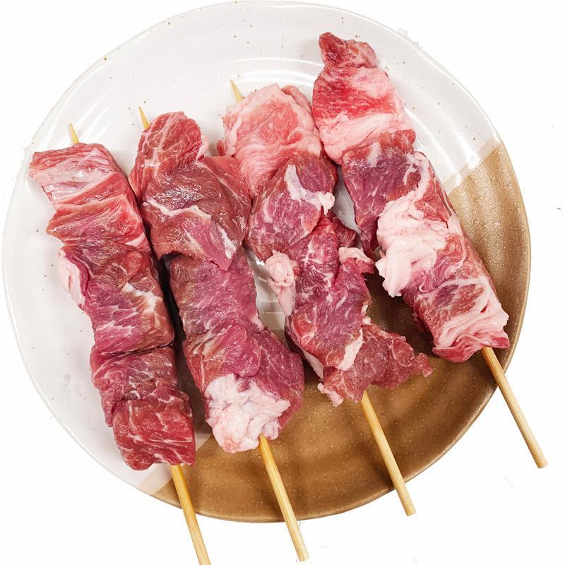 イベリコ豚 豚肩ロース串 40g×20本 外国産豚(スペイン) (15cm丸串)(pr)(49326-20)(やきとん) torimasu