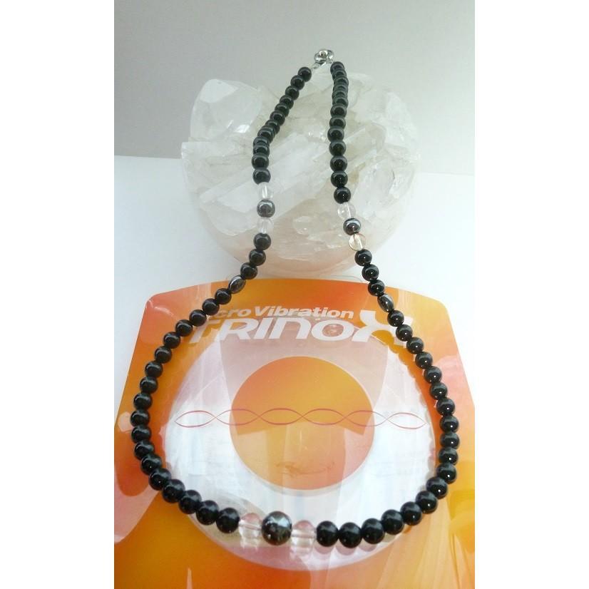 ブラック テラヘルツ ハイパーネックレス テラヘルツ加工 Lサイズ 55cm ボタン オニキス 水晶 チタン 磁気ヘマタイト 6mm テラ鉱石 8mm|torinox-store|05