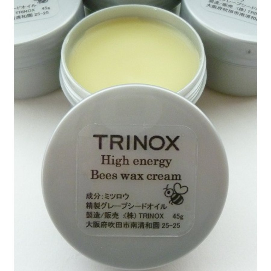 TRINOX トリノックス ハイエナジー ビーズワックス クリーム 45g みつろうクリーム 蜂蜜 肩 腰 ひざ 指 筋肉痛 ニキビ|torinox-store|02