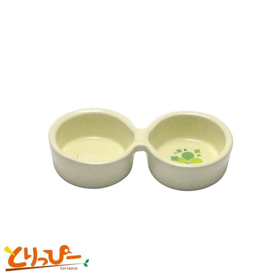 SANKO 超人気 小動物用陶器食器 日本正規代理店品 HAPPY-DISH A07 ダブル