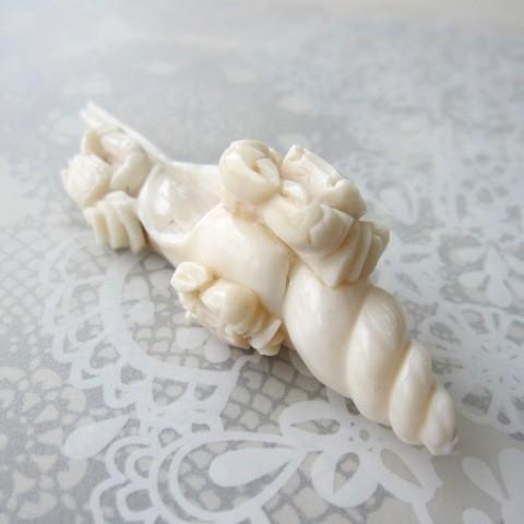 ミッド珊瑚カニと巻貝の置物/かに/貝殻/『宝石サンゴ』