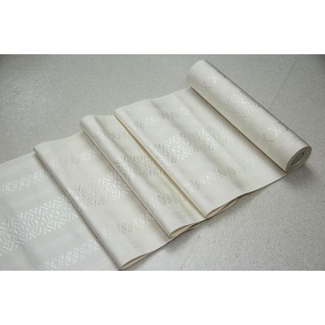 【50%OFF】 正絹本場筑前博多織 八寸名古屋帯 献上柄 白色, SELBY aa2001c9
