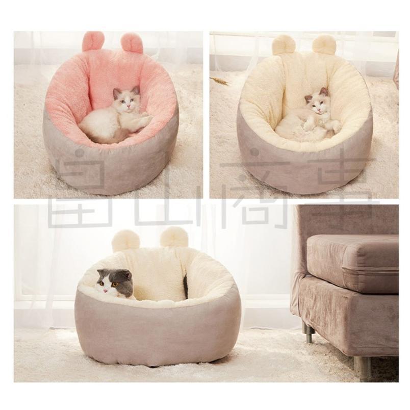 ベッド クッション 猫 キャット 小型犬 冬用 ハウス あったか ベッド クッション ペット用寝袋 保温防寒 ドーム型 ふわふわ 暖かい toshiya0912 05