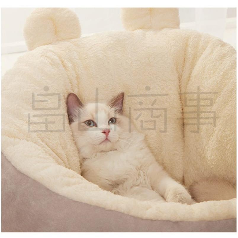 ベッド クッション 猫 キャット 小型犬 冬用 ハウス あったか ベッド クッション ペット用寝袋 保温防寒 ドーム型 ふわふわ 暖かい toshiya0912 07