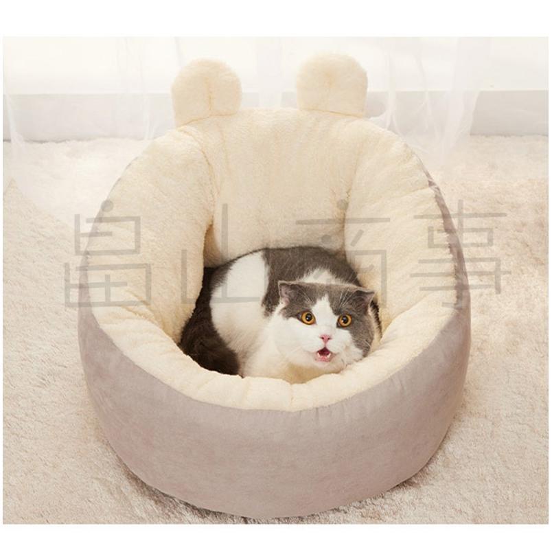 ベッド クッション 猫 キャット 小型犬 冬用 ハウス あったか ベッド クッション ペット用寝袋 保温防寒 ドーム型 ふわふわ 暖かい toshiya0912 08