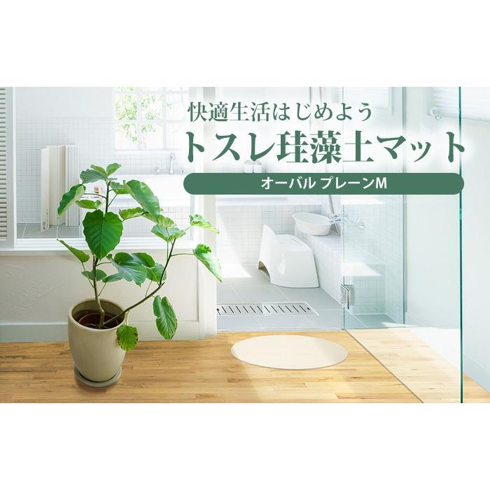 トスレ 北海道稚内産珪藻土マット オーバル プレーンM tosle|tosle|02