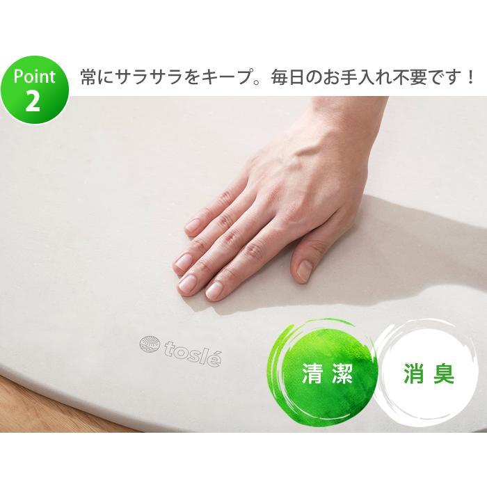 トスレ 北海道稚内産珪藻土マット スクエアモダンドットラインM tosle|tosle|15