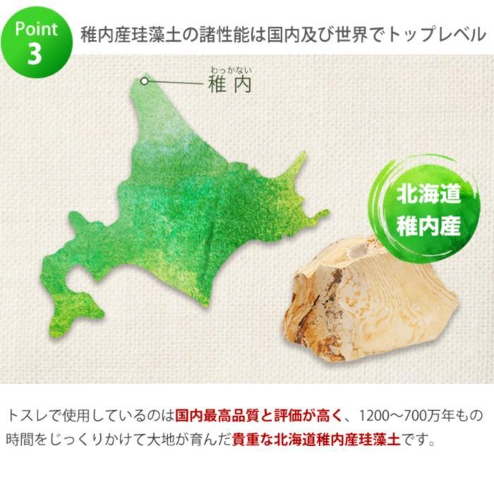 トスレ 北海道稚内産珪藻土マット スクエアモダンドットラインM tosle|tosle|16