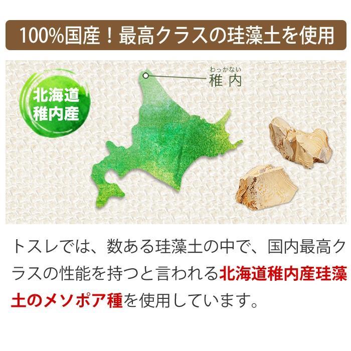 トスレ 北海道 珪藻土 コースター ハート プレーン 2枚組 tosle 08
