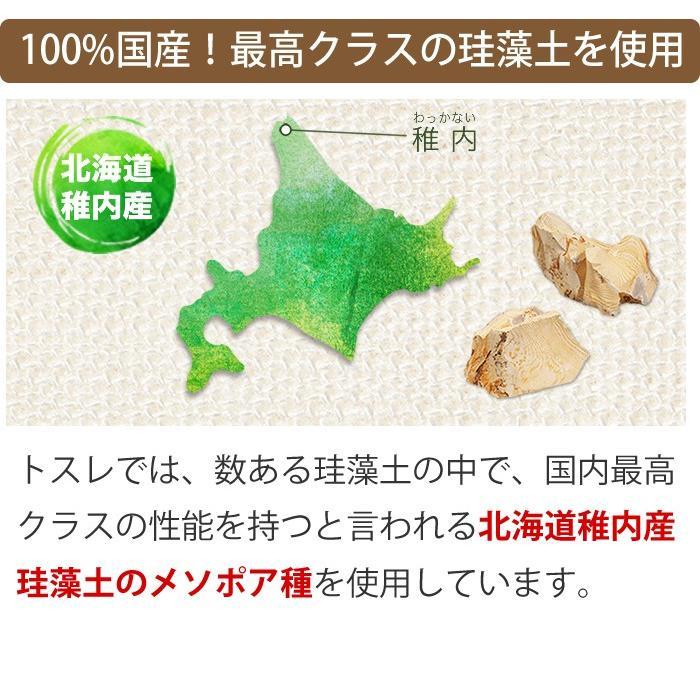 トスレ 北海道稚内産珪藻土マットミニ ロング tosle long|tosle|15