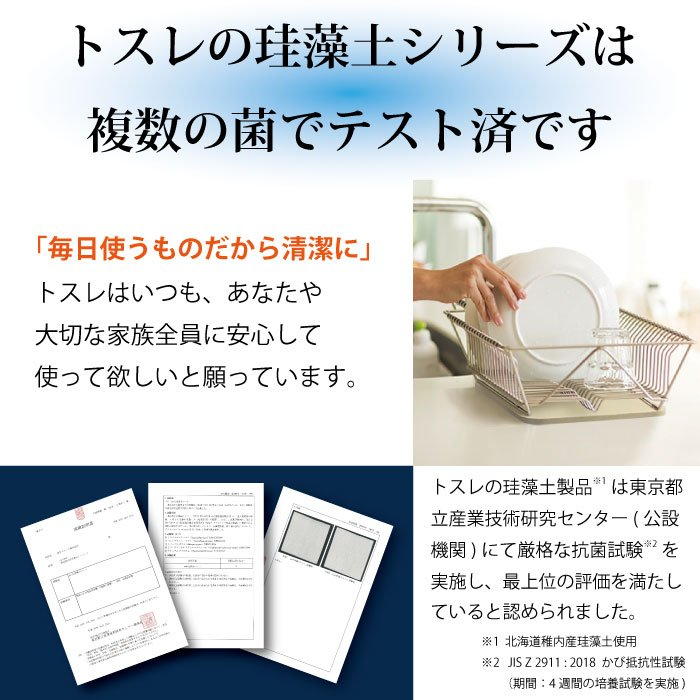 トスレ 北海道稚内産珪藻土マットミニ レギュラー RG regular tosle 21