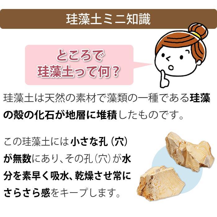 トスレ 北海道稚内産珪藻土マットミニ ショート ST short|tosle|13