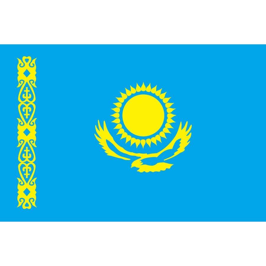 【送料無料】 カザフスタン国旗セット・高級アルミ合金パーツ付き