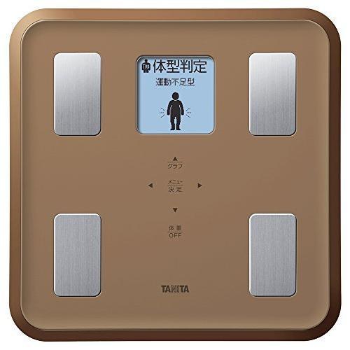 タニタ 体重 体組成計 SALE開催中 バックライト 日本製 ブラウン 顔イラストや応援メッセージ表示 値下げ BR フルドット液晶の表示画面採用 BC-810