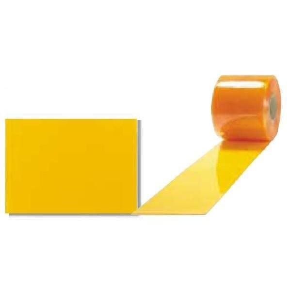 《法人様宛限定》アキレス ミエール 防虫制電(透明オレンジ,フラット) ビニールカーテン(のれん式) 厚み3mm×幅300mm×長さ12M 1巻