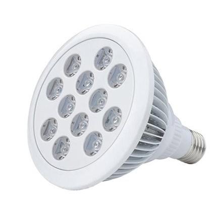 24W 青8シアン1ライトシアン1赤1紫外線1 60度レンズ LEDライト アクアリウム水草水槽サンゴ色揚げ用