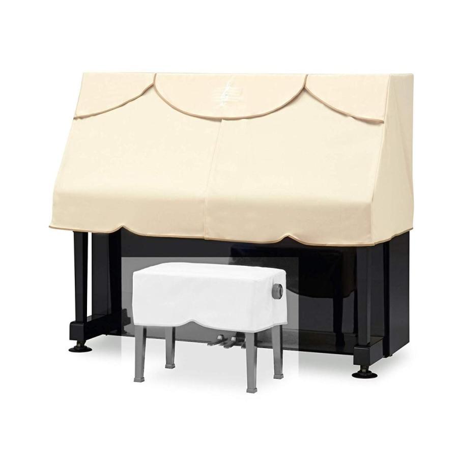 クロス付特別版UPピアノカバー(ハーフカバー) 吉澤 PC-440BE(S/M兼用サイズ)