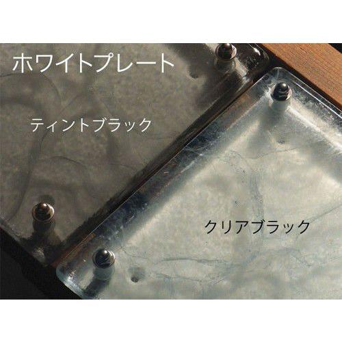 【金沢発エコガラス】 ガラス特有のやわらかな黒のマーブル模様が渋みのある風合いのガラス表札。 G16 CRT サイズ:200size/150size 【カラー展開2色】|touban-art|02