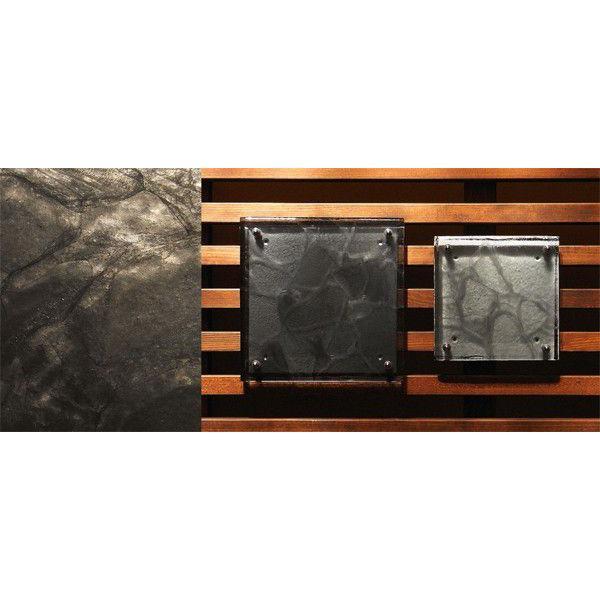 【金沢発エコガラス】 ガラス特有のやわらかな黒のマーブル模様が渋みのある風合いのガラス表札。 G16 CRT サイズ:200size/150size 【カラー展開2色】|touban-art|04