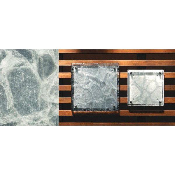 【金沢発エコガラス】 ガラス特有のやわらかな黒のマーブル模様が渋みのある風合いのガラス表札。 G16 CRT サイズ:200size/150size 【カラー展開2色】|touban-art|05
