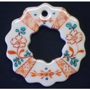 お待たせいたしました! 九谷焼陶器クリスマス・オーナメント6種セット・伝統柄Aタイプ|touban-art|03