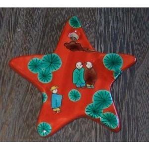 お待たせいたしました! 九谷焼陶器クリスマス・オーナメント6種セット・伝統柄Aタイプ|touban-art|05