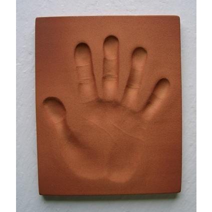 【お家で陶芸〜手形足形タイルAタイプ】家族やペットの手形足形をタイルにしませんか。 touban-art