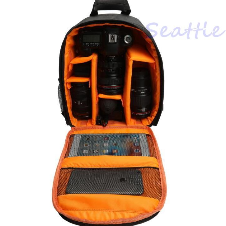 カメラバッグ 一眼レフ カメラリュック メンズ ミラーレス 三脚収納 カメラケース 引き出し設計 インナーバッグ レンズ収納 リュックサック 耐摩 防振|toukouboueki-store|08