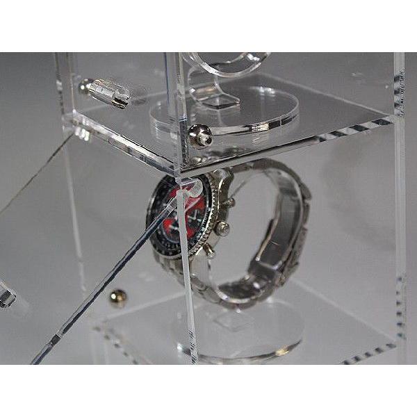 腕時計ショーケース(時計スタンド3個込み) (アクリルケース)|toumeikan|03