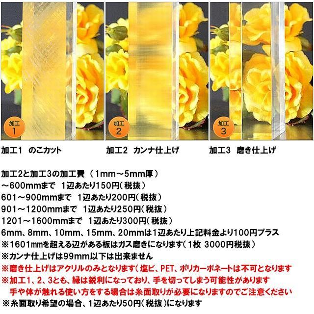 ポリカーボネート 透明-板厚(2ミリ)(両面耐候)1000×1000|toumeikan|03
