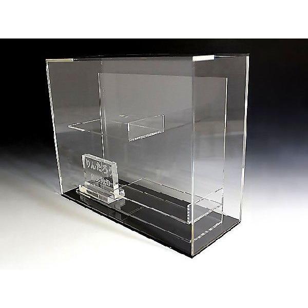 ファーストシューズ記念コレクションケース 上下置き横型タイプ&彫刻プレートセット (アクリルケース)|toumeikan|02