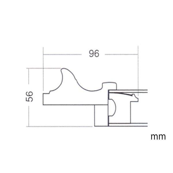 額縁 油彩用額縁 油絵用額縁 樹脂製フレーム 正方形の額縁 X51 サイズF8号 S5号 S6号|touo2|04