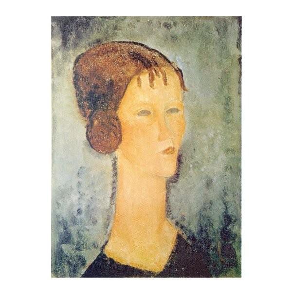 絵画 壁掛け 額縁 アートフレーム付き アメディオ・モディリアーニ 「巻毛髪の少女」P10号 世界の名画シリーズ プリハード